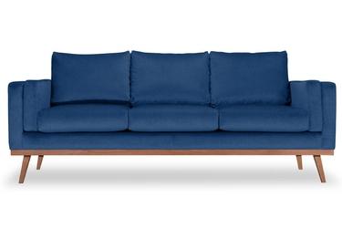 Sofa nenuphar 3-osobowa welurowa deluxe - welur łatwozmywalny indigo