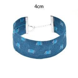 Choker materiał niebieski - niebieski