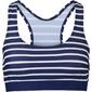 Biustonosz bikini bustier bonprix niebiesko-biały w paski