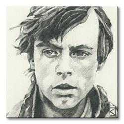Star wars luke skywalker sketch - obraz na płótnie