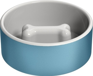 Miska dla psa naturally cooling ceramics niebieska l