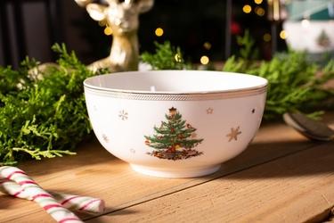 Salaterka  miseczka porcelanowa świąteczna boże narodzenie altom design classic green 14 cm