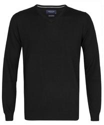 Elegancki czarny sweter prufuomo z delikatnej wełny merynosów xxl