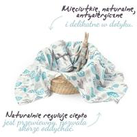 Colorstories otulacz muślinowy floral mint - 75x75cm, 0+