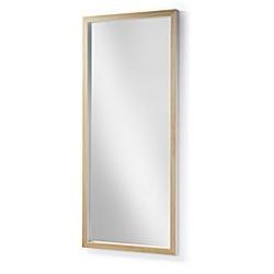 Lustro w drewnianej ramie drop 178x4 cm białe