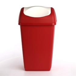 Kosz na śmieci uchylny tontarelli grace 15 l czerwony