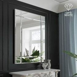 Gieradesign :: lustro dekoracyjne fazis opti prostokątne białe 90x120 cm