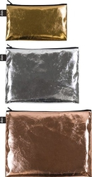 Saszetki zip pockets metallic matt gold, silver, rose gold 3 szt.