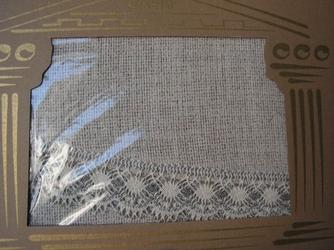 Obrus teflonowany greno lniany kwadrat 160 x 160