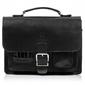Klasyczna torba do ręki torba na ramię plecak 3w1 paolo peruzzi czarna
