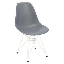 Krzesło p016 pp white dark grey - szary ciemny