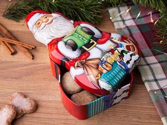 Puszka na ciasteczka i pierniki świąteczna altom design boże narodzenie gwiazdor 13 x 23 x 6 cm