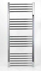 Grzejnik łazienkowy wetherby - elektryczny, wykończenie proste, 400x1200, chromowany
