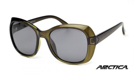 Okulary damskie arctica s-248 piwne z polaryzacją