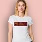 Amba fatima t-shirt sportowy damski biały l