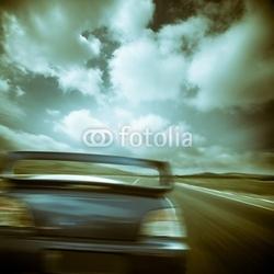 Plakat na papierze fotorealistycznym samochód