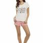 Henderson devine 35830-01x ecru-róż piżama damska