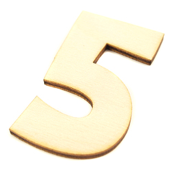 Drewniana cyfra 6 cm - 5 - 5