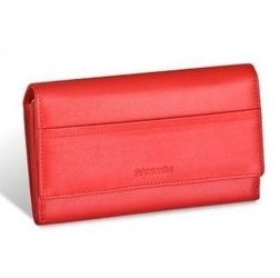 Damski portfel valentini black  red diamond 262 - czerwony
