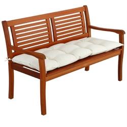 Materac poduszka poducha na ławkę 110x50x8 cm - kremowy