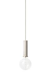 Lampa wisząca Socket Pendant duża jasnoszara