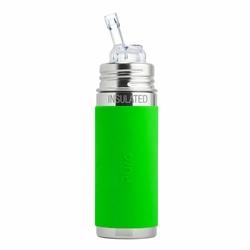 Termobutelka ze słomką i zieloną osłonką 260 ml, Pura Kiki OUTLET