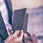 Skórzany cienki portfel slim wallet brodrene sw01 ciemnobrązowy - c. brązowy