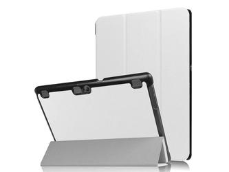 Czarne etui skórzane pu typu stojak book cover lenovo tab2 a10-70 - biały