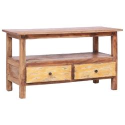 Vidaxl szafka pod tv, 90 x 40 x 50 cm, lite drewno z odzysku
