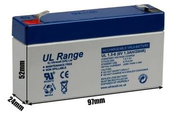 Akumulator agm ultracell ul 6v 1.3ah żelowy - szybka dostawa lub możliwość odbioru w 39 miastach