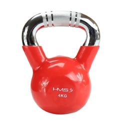 Hantla winylowa żeliwna kettlebell ktc04 4 kg - hms - 4 kg