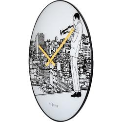 Zegar ścienny trumpet city nextime 40 cm 8191