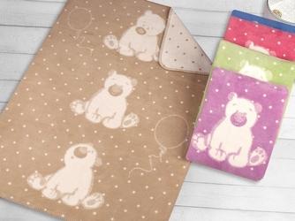 Kocyk dla dzieci sweet bear greno, 5 kolorów camel 100 x 150