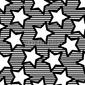 Obraz na płótnie canvas trzyczęściowy tryptyk retro czarne bezszwowe tło gwiazdy
