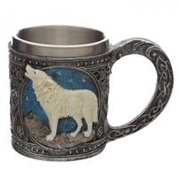 Wilk strażnik północy - kufel dekoracyjny z wilkiem