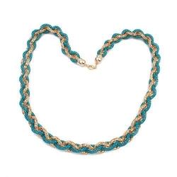 Naszyjnik twisted turquoise - turquoise