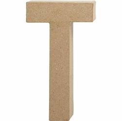 Litera z papier mache 20,5x2,5 cm - T - T