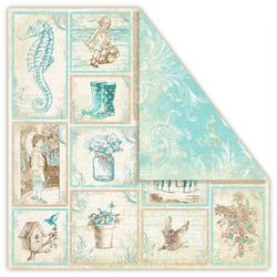 Papier PROVENCE AQUARIUS 30,5x30,5 cm - souvenirs - 04