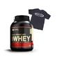 Optimum nutrition whey gold standard - 2270 g + t-shirt - muscletech - black - l