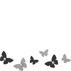 Wieszaczki ścienne Millions of Butterflies CalleaDesign czarne 50-13-2-5