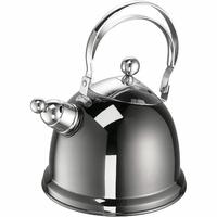 Czajnik stalowy z gwizdkiem Luna, antracytowy, indukcja, 2,2 Litra 68043-16