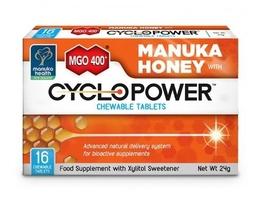 Cyclopower z ksylitolem i miodem manuka mgo 400+ x 16 tabletek do ssania