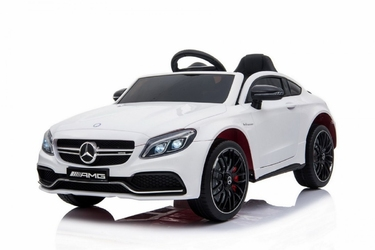 Mercedes c63 amg biały samochód na akumulator + pilot
