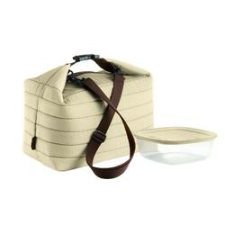 Guzzini - on the go - duża torba termiczna z pojemnikiem,brązowa - brązowy
