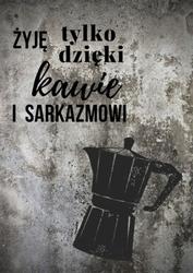 Kawa i sarkazm  - plakat