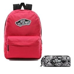 Zestaw plecak szkolny vans realm cerise + piórnik otw pencil pouch