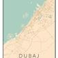 Dubaj mapa kolorowa - plakat wymiar do wyboru: 61x91,5 cm