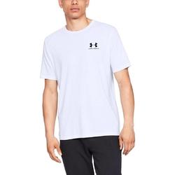Koszulka męska under armour sportstyle left chest ss - biały