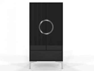 Czarna wysoka nowoczesna komoda eva  wysoki połysk