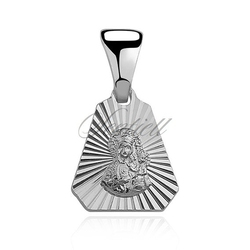Srebrny pr.925 medalik z wytłoczeniami, matka boska częstochowska